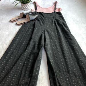 Vintage Pants - Vintage Menswear Black Suspender Pants